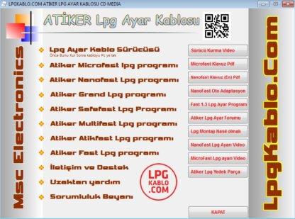 LPG-C01A ATİKER LPG AYAR KABLOSU + LPG FİLTRE +