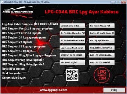 LPG-C04A BRC LPG AYAR KABLOSU ÜCRETSİZ KARGO